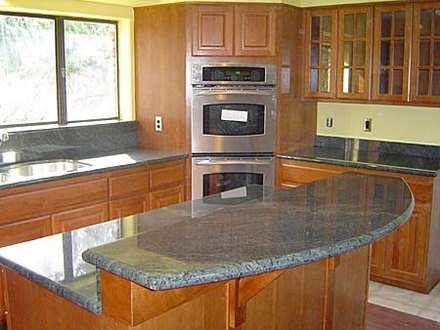 Topes para cocinas y escalera en granitos natural y marmol - Marmoles para cocinas ...