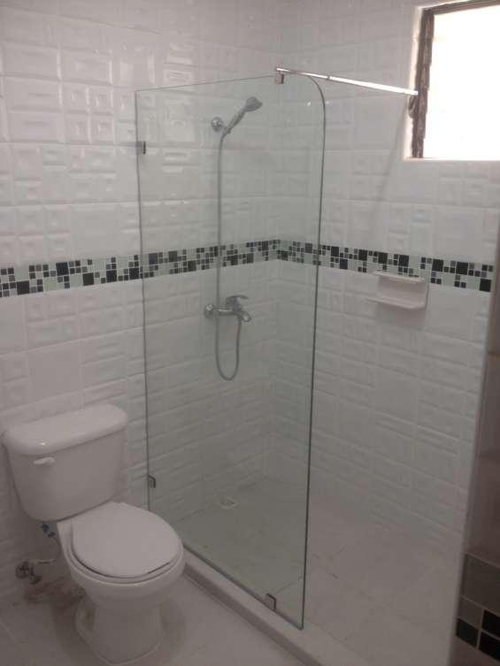 Cristal fijo para ducha stunning maravillosa mamparas de - Mamparas de bano de cristal ...