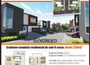 Hermosas casas de 3 hab con sus baños, 220 mts, en villas del sol