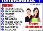Aux. enfermeria, fisioterapia, laboratorio, farmacia, paramedico