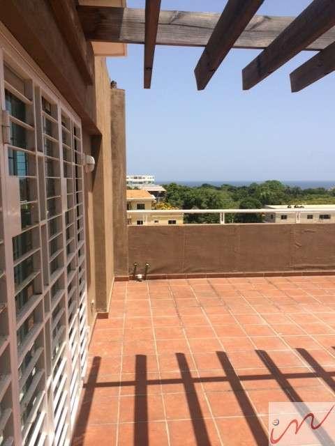 Alquiler de hermoso y acogedor penthouse en gazcue con terraza y linea blanca de calidad 124 mts