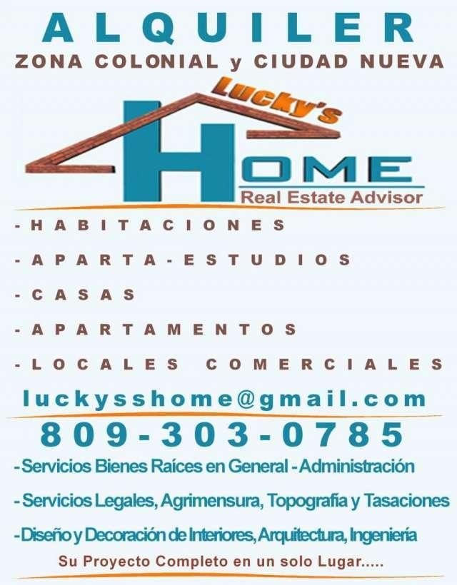 Alquiler apartamentos, casas, locales, habitaciones, sto dgo, zona colonial, ciudad nueva