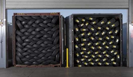 Llantas usadas de usa por contenedores categoria