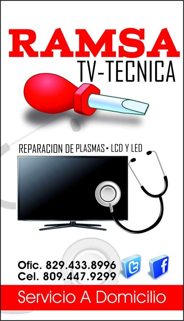 Reparacion de tv plasma, lcd y led. servicio a domicilio