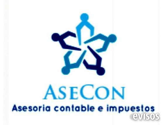 Asecon, asesoría contable e impuestos