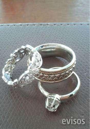 3 anillos de oro ...