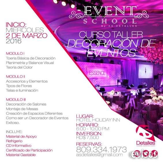Curso taller decoracion de eventos