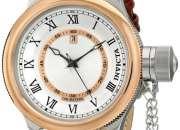 Reloj Invicta Russian Diver en piel marron