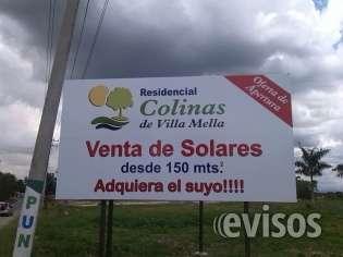 Solar 160 mts. piscina y casa club en villa mellaa