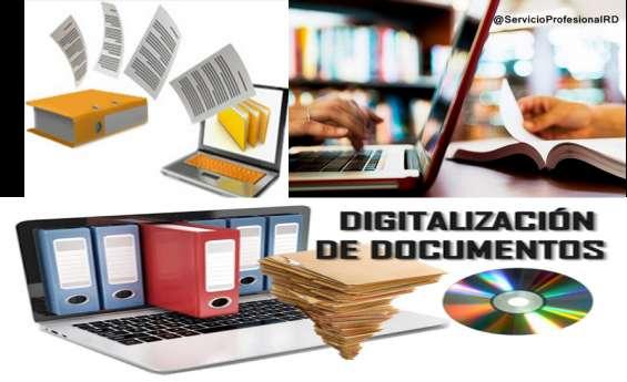 Digitalización de archivos y transcripción de documentos
