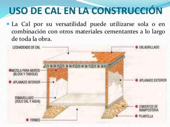 Usos de la cal en la construccion