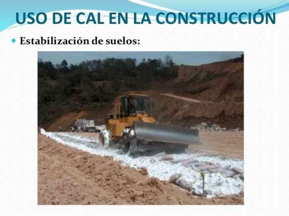 Cal para construccion estabilzacion de suelos