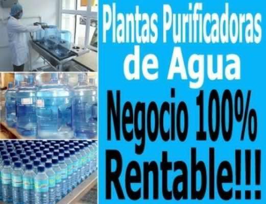 Instale el mejor negocio. plantas embotelladoras de agua