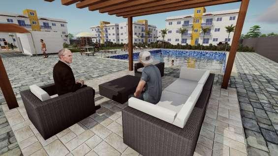 Con piscina apartamento en punta cana vista al mar