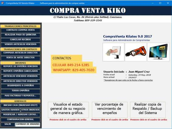 Software para administrar casas de empeño y compraventas. soporte tecnico y buen servicio.