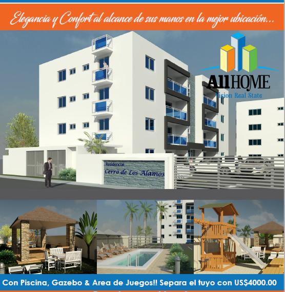 Bellos apartamentos, los álamos, santiago, rd